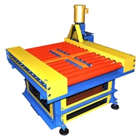 chain-driven-live-roller-conveyor-with-pallet-lift-and-turn