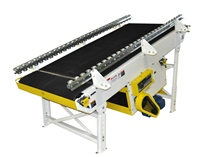 rough-top-belt-slider-bed-conveyor-with-skate-wheel-side-rails-for-tire-and-wheel-conveor