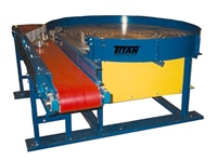 Accumulation Parts Turntable with Slider Bed Belt Conveyor