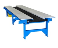 CDLR Coated Roller Conveyor with Worktables for Assembly Line