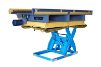 CDLR Conveyor on Scissor Lift with Skirting