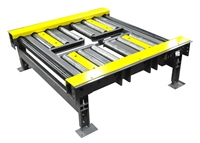 Dual Lane Motorized Roller Conveyor