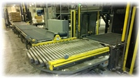 Heavy Duty Pallet Handling Wire Mesh System with CDLR Turntable for Change of Direction
