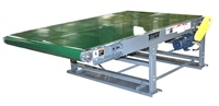 Wide Slider Bed Belt Conveyor - with V-Guide Belt