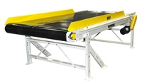 "Wide Slider Bed Sorting Conveyor with 6"" High Siderails"