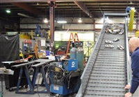 "Heavy Duty 6"" Pitch Hinged Steel Belt Conveyor"