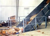 Chain Edge Belt Conveyor for Corrugated Recycling