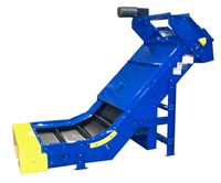 corrugated-side-wall-belt-conveyor-with-multiple-discharge-chutes