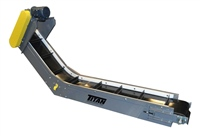 Cleated Belt Horizontal to Incline Conveyor