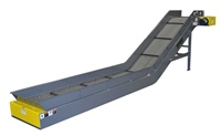 Hinged Steel Belt Conveyor - Siderails - Side Mount Drive