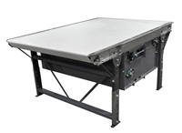 slider-bed-belt-conveyor-with-galvanized-frame-food-grade-belt