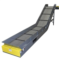 "hinged-steel-belt-conveyor-6""-flared-side-rail-side-mount-drive"
