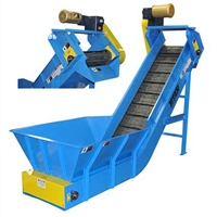 hinged-steel-belt-conveyor-hopper-&-discharge-chute