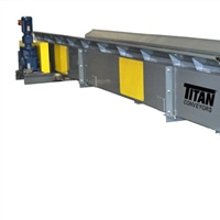 "6"" pitch hinged steel belt conveyor with side mount drive"