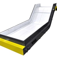 Wide Plastic Cleated Belt Incline Conveyor