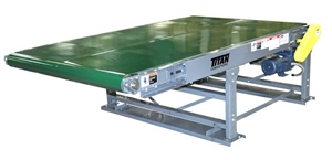 model 104 wide slider bed belt conveyor bottom mount drive with special supports