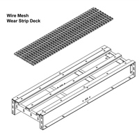 Wire Mesh Conveyor-Wear Strip Deck