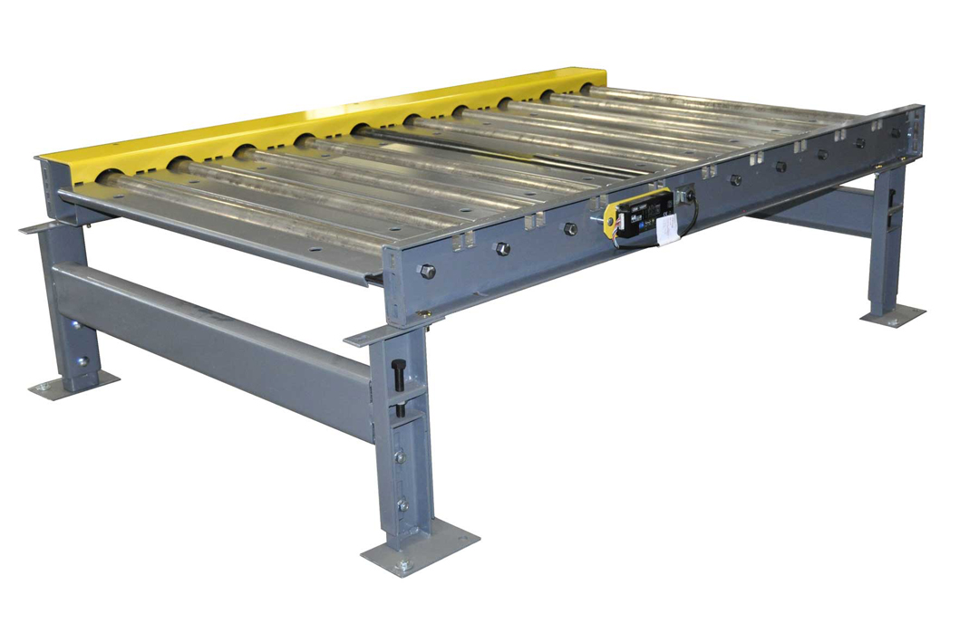 Tire and wheel conveyor systems chain driven rollers Motorized conveyor belt