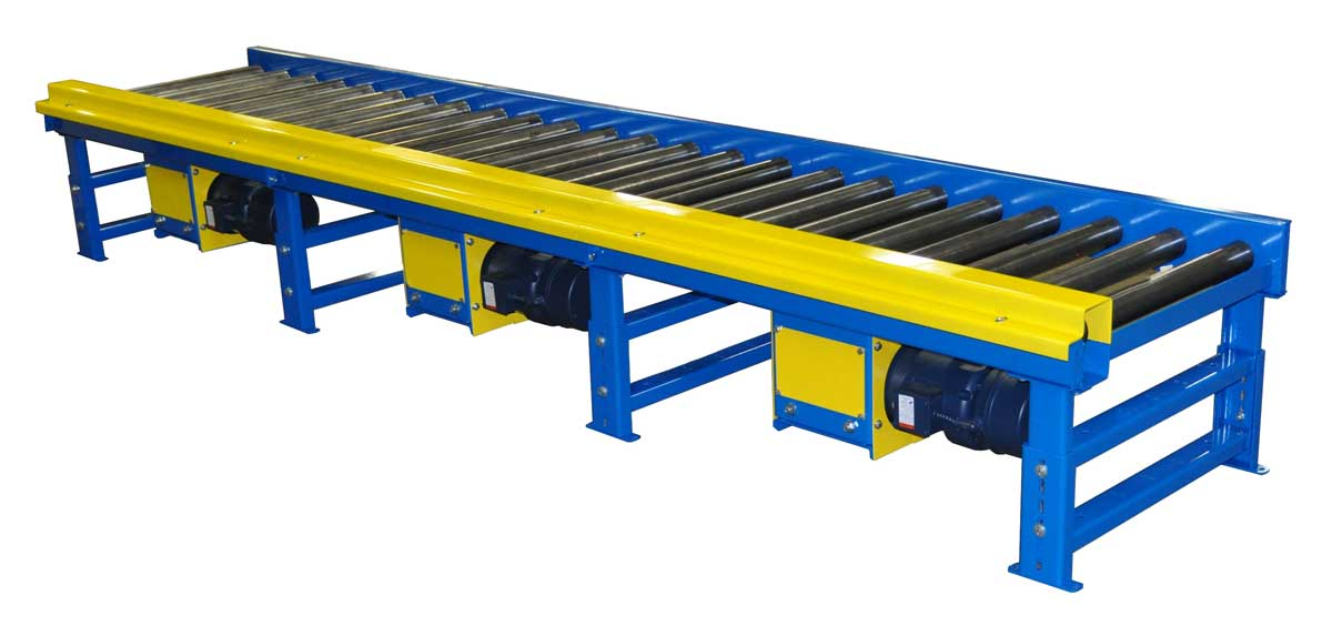 Model 525 Live Roller Conveyors Heavy Gage Construction