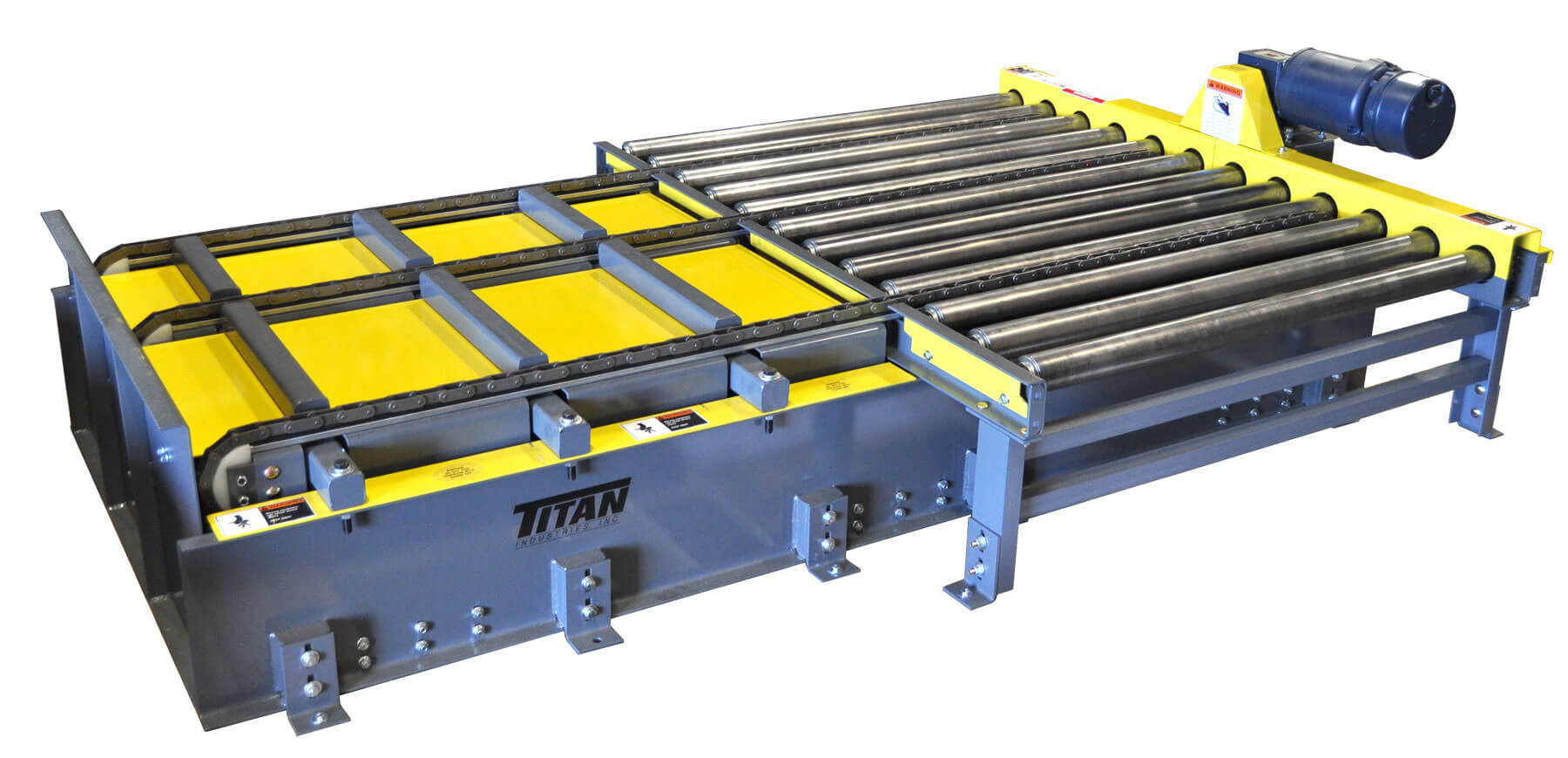 Transfer Roller Pallet Centering Lifts And Crowder