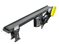 bottom mount drive low profile slider bed belt conveyor with controls