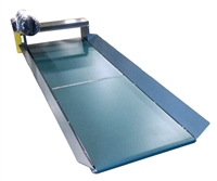 low profile belt conveyor with flared side rails and top mount drive