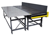 slider bed belt conveyor with worktable
