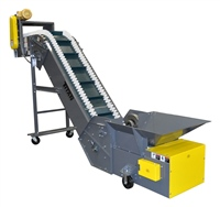 corrugated-sidewall-belt-conveyor-with-infeed-hopper-and-top-mount-drive