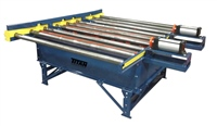 chain driven live roller conveyor with pallet lift & pallet pushers