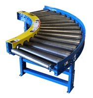 chain-driven-live-roller-curve-conveyor-with-gravity-roller-discharge