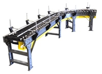 Lineshaft Straight Section and Curve with Adjustable Siderails & Plastisol Covered Rollers
