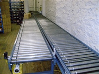 Lineshaft Conveyors with Electric Eye Stop