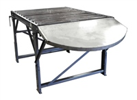 gravity-roller-conveyor-with-special-discharge-table-and-hand-brake