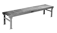 Gravity Roller Conveyor 10' Section Standard Supports