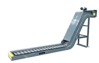low-profile-hinged-steel-belt-conveyor-with-bulb-infeed