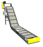 "2 1/2"" pitch hinged steel belt conveyor with controls"