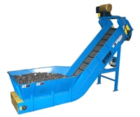 hinged-steel-belt-conveyor-with-full-hopper