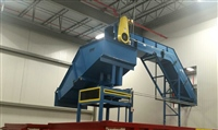 Hinged Steel Belt Conveyor with rotating discharge chute
