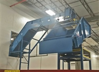 "4"" Pitch Hinged Steel Belt Conveyor - rotating discharge chute"
