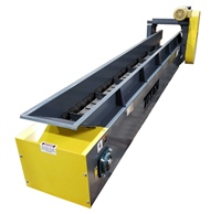 "4"" Pitch Hinged Steel Belt Conveyor with Cleats and Top Mount Drive"