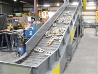 "6"" pitch hinged steel belt conveyor"