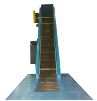 Chain Edge Cleated Belt Conveyor Mounted in Floor