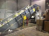 recycling-conveyor-system-with-cardboard-baler