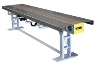 tiltable-table-top-conveyor-with-work-tables-and-controls-mounted