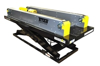 Dual Lane Table Top Conveyor on Lift