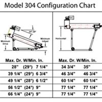 optional adjustable undercarriage chart