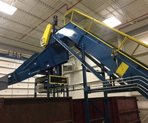 Scrap Conveyor with Rotating Chute