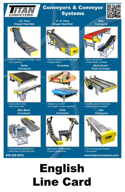 Download The English Conveyor Line Card