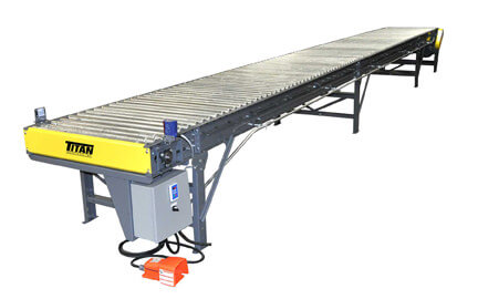 Model 404 Belt-Driven Live Roller Conveyor