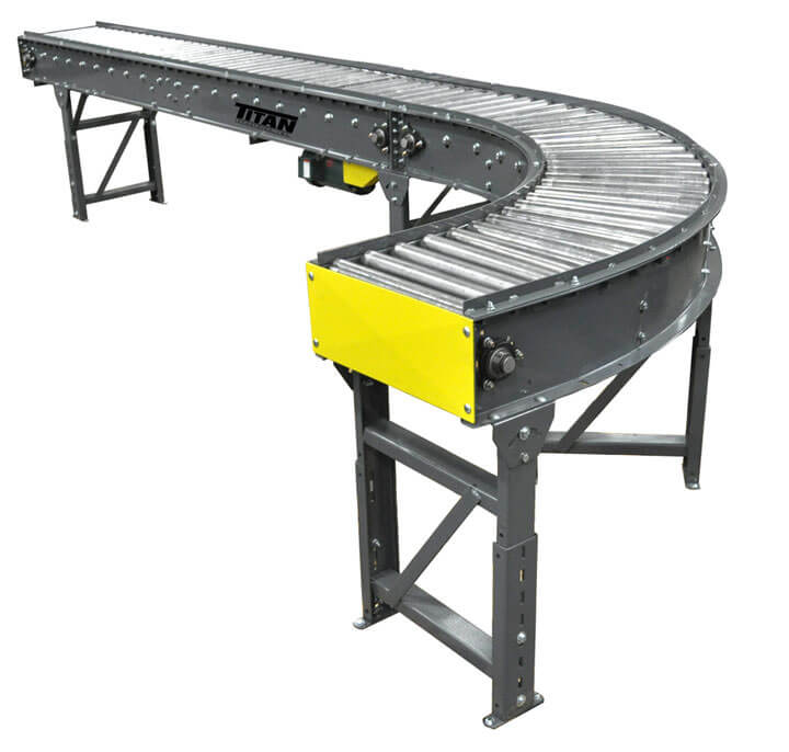 Model 490 V-Belt Driven Live Roller Conveyor